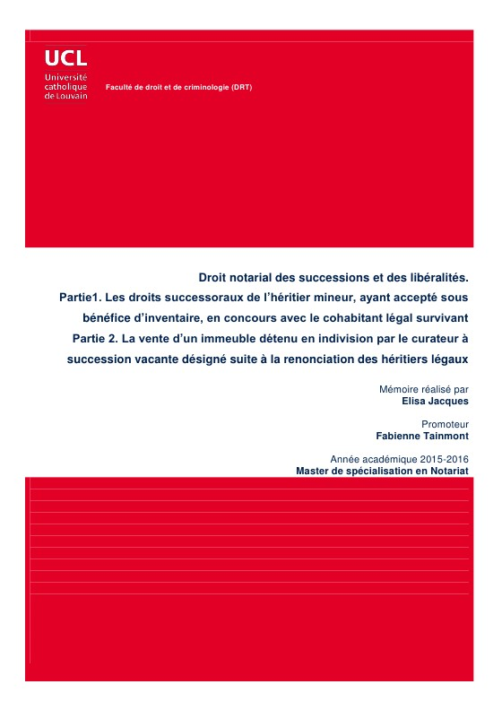les renonciations en droit successoral dissertation