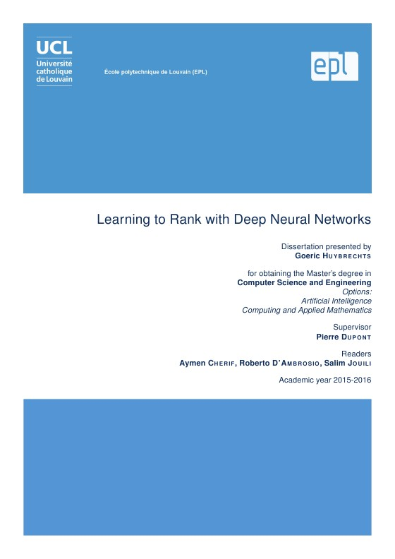 thesis in neural networks What are the hot topics in neural networks in 2016 in alex grave's thesis of neural turing machines have been using neural networks for a long time.